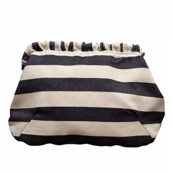Cartera Brenda black stripes