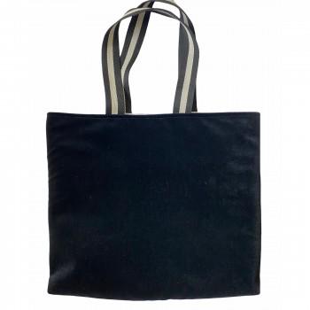 Tote bag Velvet Black